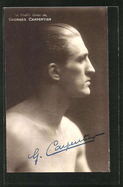 AK Le Profil Grec de Georges Carpentier, Boxen