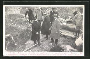 AK Corfu L'Empereur d'Allemagne, le Roi et le Prince Heritier de Grece sur le lieu des fouilles, Ausgrabung