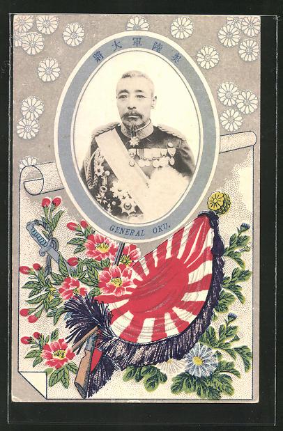 AK Russisch-Japanischer Krieg, Portrait japanischer General Oku