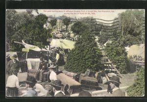 AK San Franciso, CA, Jefferson Square, Turks & Goughs Sts., Opfer des Feuers von 1906