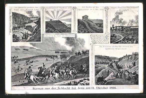 AK Scenen aus der Schlacht bei Jena am 14. Oktober 1806