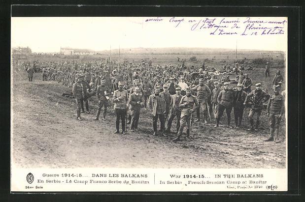 AK Banitza, French-Serbian Camp, War 1914-15
