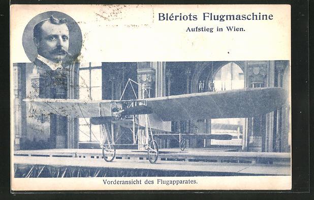 AK Blériots Flugmaschine, Aufstieg in Wien