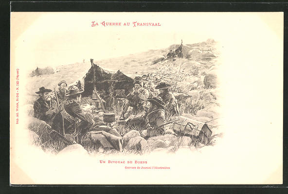AK La Guerre au Transvaal, Un Bivouac de Boers, Burenkrieg
