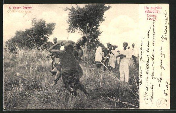 AK Congo Litoral, Un pugilat, Traditioneller Boxkampf unter Einheimischen