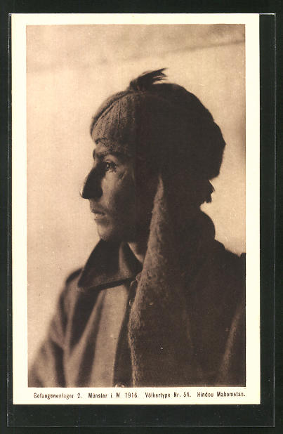 AK Münster, Gefangenenlager 2. 1916, Völkertype Nr. 54, Hindou Mahometan