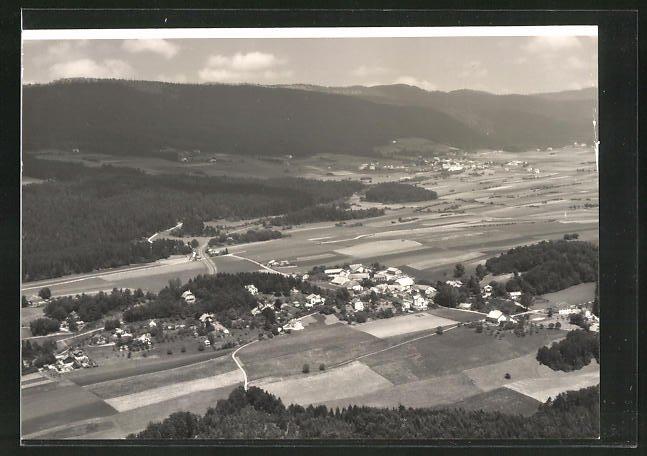Foto-AK Montmollin, Panorama aus der Vogelschau