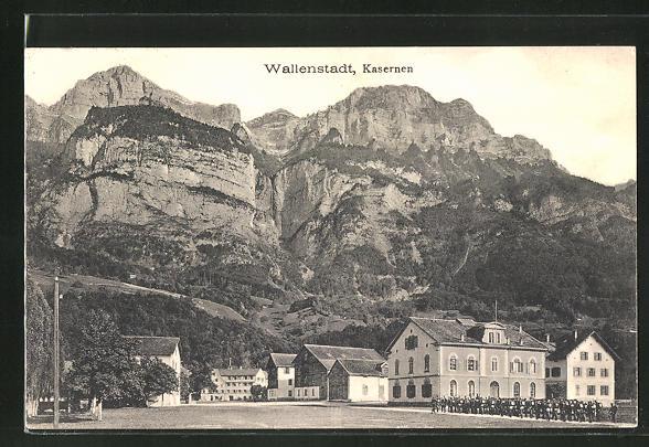 AK Wallenstadt, Blick auf die Kasernen