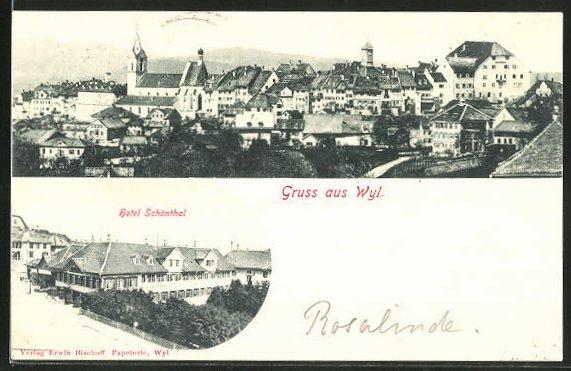 AK Ortsansicht, Hotel Schönthal
