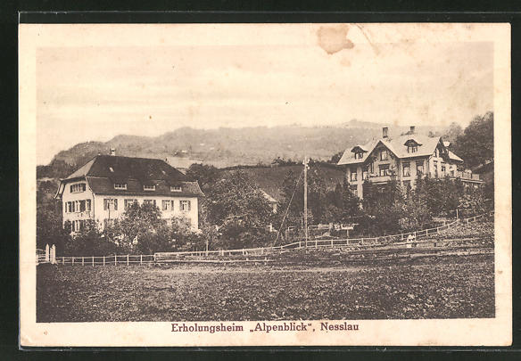 AK Nesslau, Partie am Erholungsheim Alpenblick