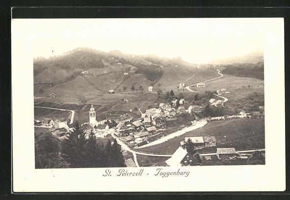AK St-Peterzell / Toggenburg, Ortsansicht