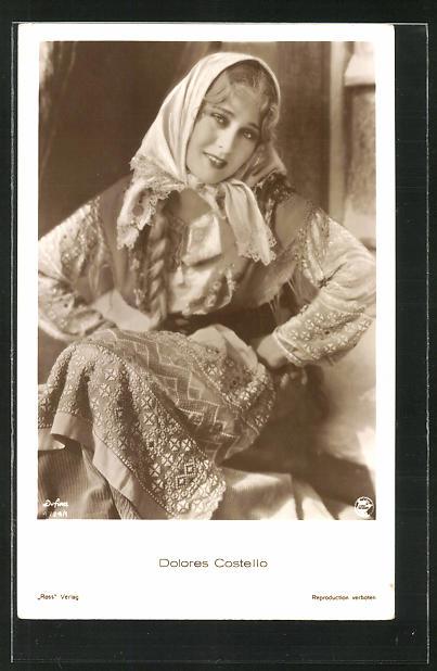 AK Schauspielerin Dolores Costello im Kostüm einer Filmrolle