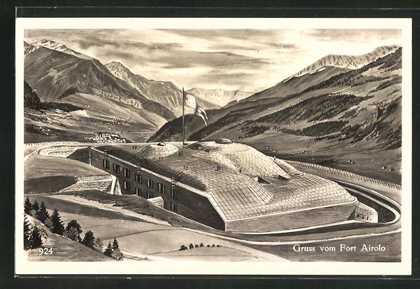 AK Arirolo, Blick auf den Fort Airolo