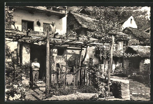AK Orselina, Haus mit Garten