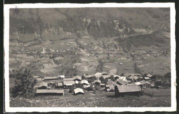 AK Conters im Prät, Ortsansicht vom Berg aus