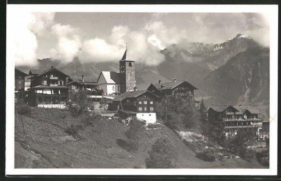 AK Tschiertschen, Ortsansicht mit Kirche