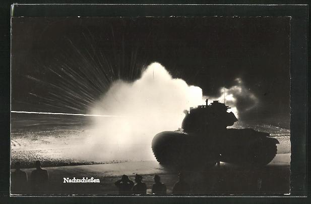 AK Bundeswehr, Nachtschiessen, Panzer