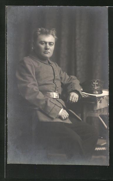 Foto-AK Landsturmmann in Uniform