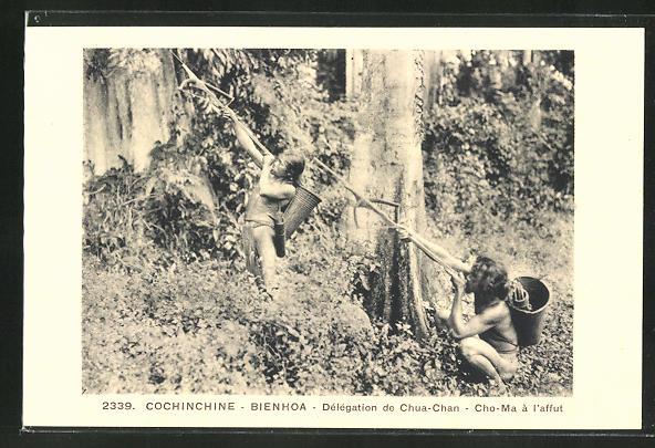 AK Männer mit Pfeil und Bogen auf der Jagd, Conchinchine - Delegattion de Chu-Chan