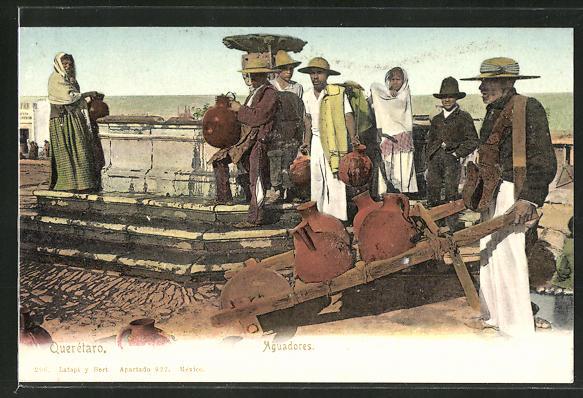 AK Männer und Frauen beim Wasserholen am Brunnen