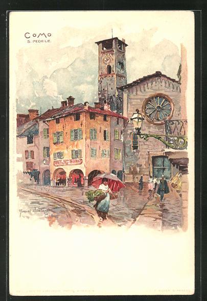Künstler-AK Manuel Wielandt: Como, S. Pedele