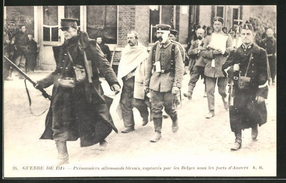 AK Anvers, Guerre de 1914, Kriegsgefangene beim Transport