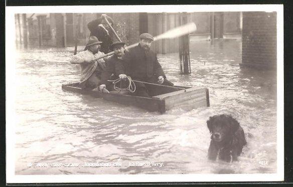 AK Ivry-sur-Seine, Inondation 1910, La Rue d'Ivry, Hochwasser