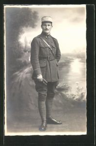 AK Französischer Soldat der Infanterie in Uniform