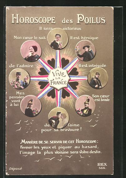 AK Propaganda, Horoscope des Poilus, Hellseher