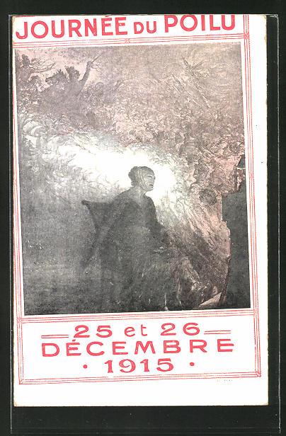 AK Journée du Poilu, 25 et 26 Décembre 1915, Propaganda