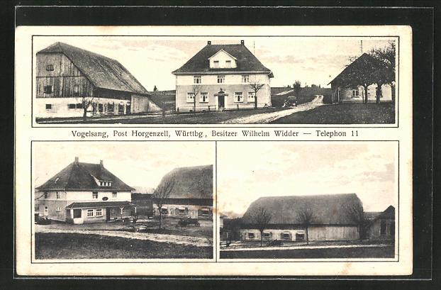 AK Horgenzell, Gutshof Vogelsang, Besitzer Wilhelm Widder