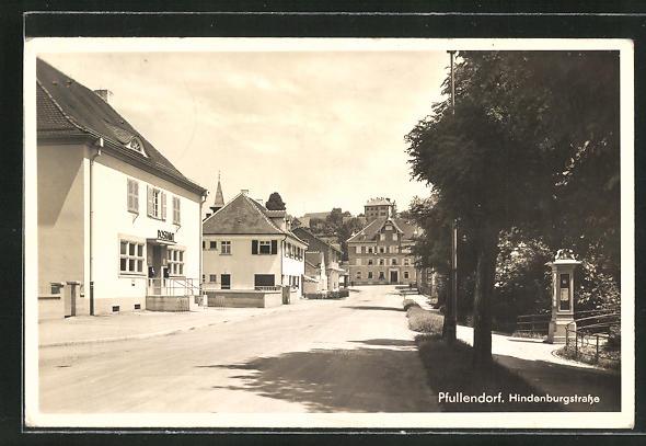AK Pfullendorf, Blick in die Hindenburgstrasse