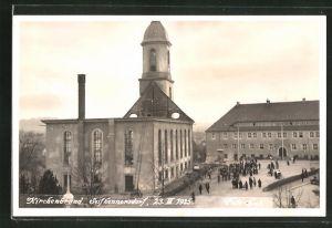 AK Seifhennersdorf, Kirchenbrand 1935