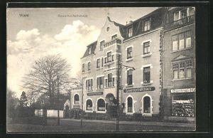 AK Solingen-Wald, Blick auf das Gewerkschaftshaus