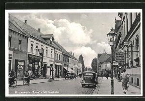 AK Fürstenwalde / Spree, Partie an der Mühlenstrasse