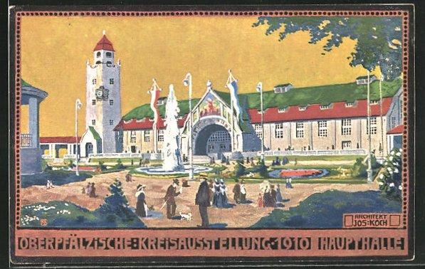 AK Regensburg, Oberpfälzische Kreisausstellung 1910