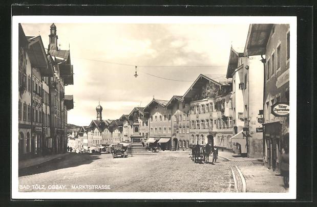 AK Bad Tölz, Marktstrasse mit Tölzer Zigarrenhaus