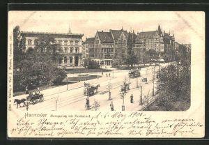 AK Hannover, Georgsplatz mit Reichsbank