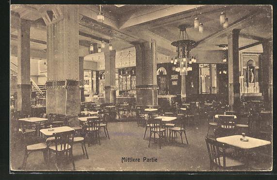 AK Hannover, Cafè Continental - Mittlere Partie