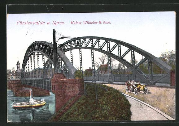 AK Fürstenwalde /Spree, Kaiser-Wilhelm-Brücke