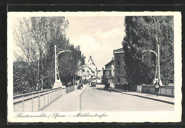 AK Fürstenwalde /Spree, Mühlenstrasse