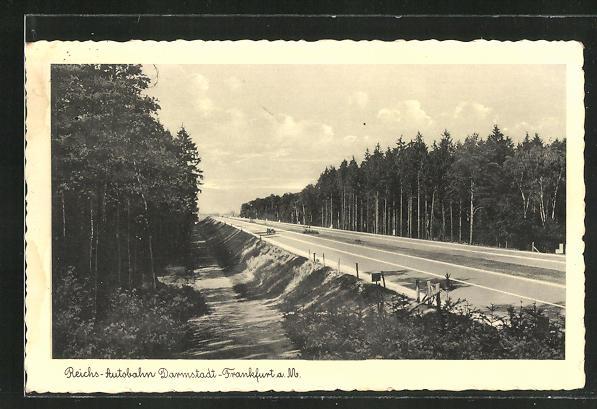 AK Reichs-Autobahn Darmstadt-Frankfurt a. M.