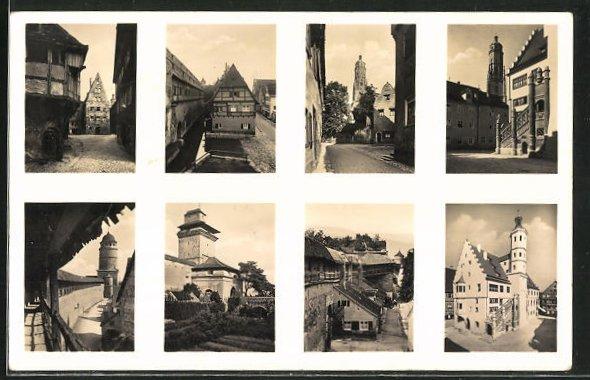 AK Nördlingen, Am Hafenhaus, Rathaus, Reimlingertor