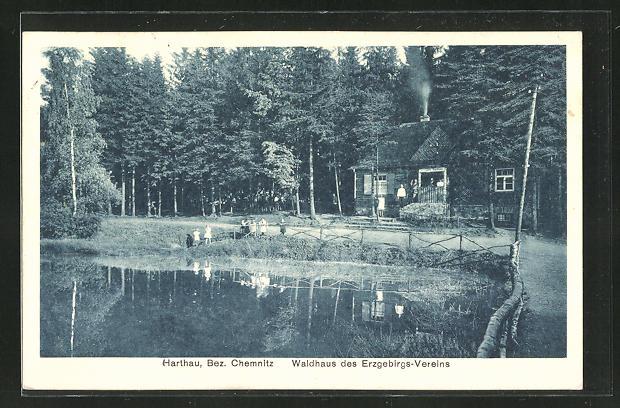 AK Harthau, Waldhaus des Erzgebirgsvereins