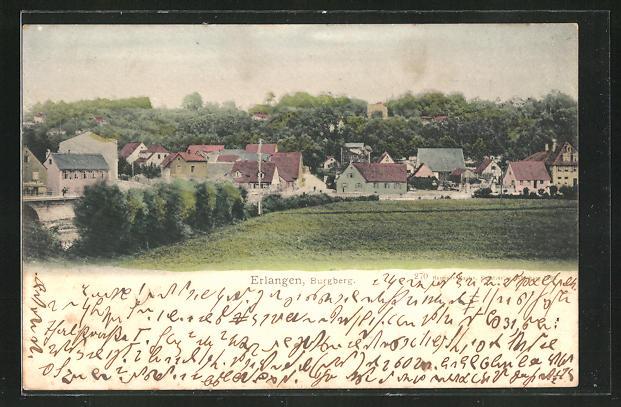 AK Erlangen, Ortspartie am Burgberg