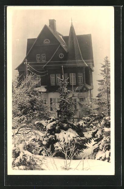 AK Oberhof / Thür., FDGB-Erholungsheim Bobhaus