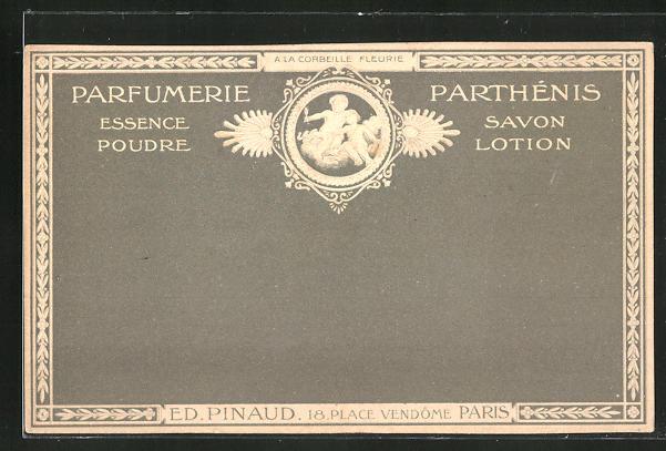 Lithographie Paris, Ed. Pinaud, 18 Place Vendóme, Parfumerie Parthénis