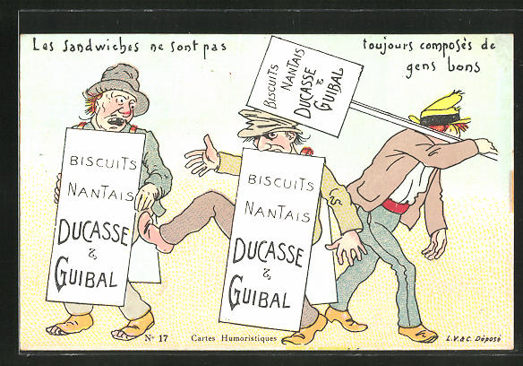 AK Biscuits Nantais Ducasse & Guiral, Les Sandwiches ne sont pas..., Keksreklame