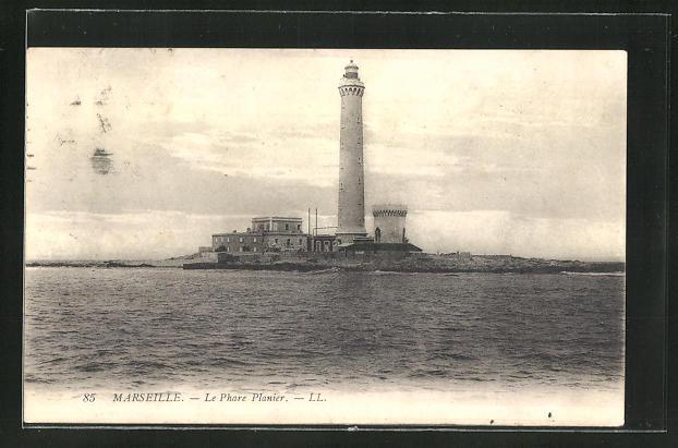 AK Marseille, le Phare Planier, Leuchtturm