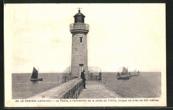 AK Le Croisic, le Phare, Motiv vom Leuchtturm